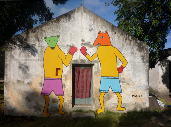 animales boxeadores, por MADE